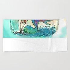 Mermaid Motel Beach Towel