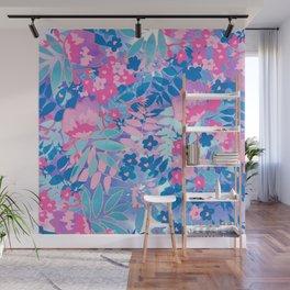 Pastel Watercolor Flowers Wall Mural