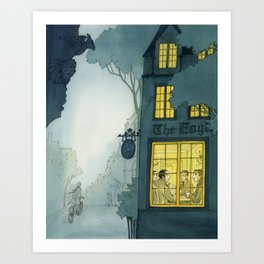 Inklings In Oxford Art Print