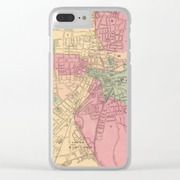 Vintage Map of Worcester MA (1871) Clear iPhone Case