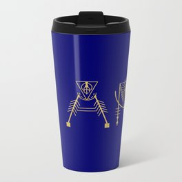 I AM in Sacred Geometry Letters Metal Travel Mug