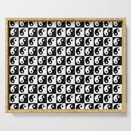 Yin and Yang 25- Tao,Zen,Taoism,Dao,Harmony,religion,buddhism,buddhist,taijitu,taiji,taoist,china Serving Tray