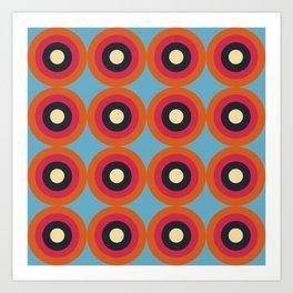 Lanai 16 - Colorful Classic Abstract Minimal Retro 70s Style Graphic Design Art Print