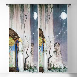 12,000pixel-500dpi - Kay Nielsen - Lassi Opens The Forbidden Open Door And Escapes The Moon Blackout Curtain
