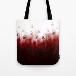 Terror Blood Hands Tote Bag