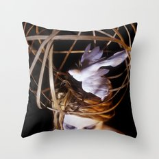 Bird Headpiece Throw Pillow