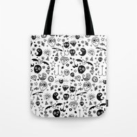 day of the dead Tote Bags featuring Day of the dead by Farnell