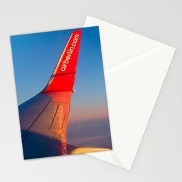 Air Berlin Boeing 737 Wing View Stationery Cards