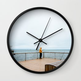 Coney Island Pier: Gone Fishing Wall Clock