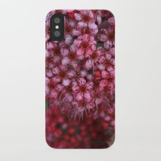 Pink Flowers Slim Case iPhone X