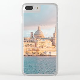 Valletta Sunset Clear iPhone Case