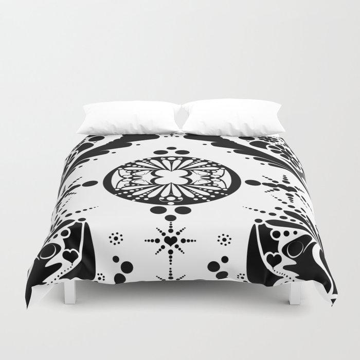 black pattern 8 Duvet Cover