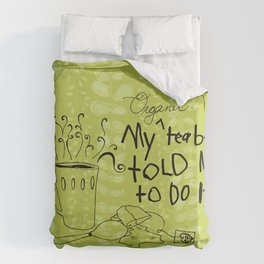 Organic Tea Bag Duvet Cover
