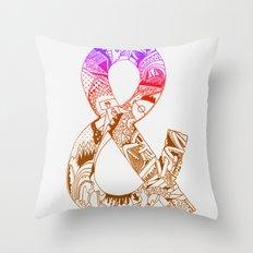 '&' Throw Pillow