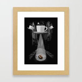 Mr. Coffee Bean Framed Art Print