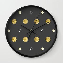 Golden Moon #abstract #art #home #decor #mond #kirovair #gold #artdeco Wall Clock