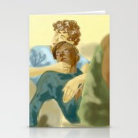 les miserables Stationery Cards featuring Sleepy Les Miserables by Pruoviare