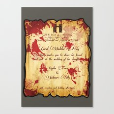 Red Wedding Canvas Print