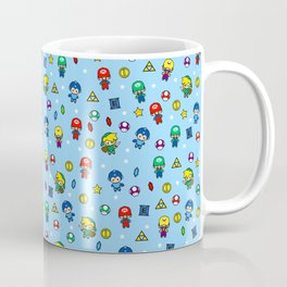Cool Video Game 8-Bit Heroes Vintage Gamer Gaming Collection Coffee Mug