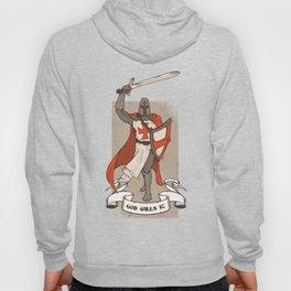 Knight Templar with Sword in Hand Hoody
