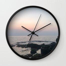 sunset girl Wall Clock