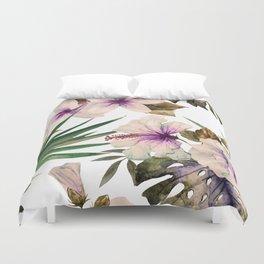 Watercolor Tropical Hibiscus 1 Duvet Cover