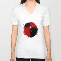 harley quinn V-neck T-shirts featuring HARLEY QUINN - HARLEY QUINN by Raisya