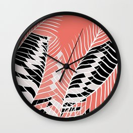 Twister Palm Riddle Wall Clock