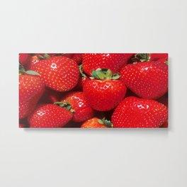 Garden Strawberries Metal Print