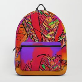 Hot Air Balloons In Subtle Abstract Backpack