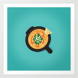 Q is for Queso Art Print