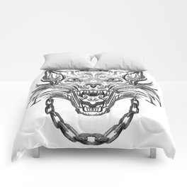 Norse Wolf Monster Fenrir Comforters