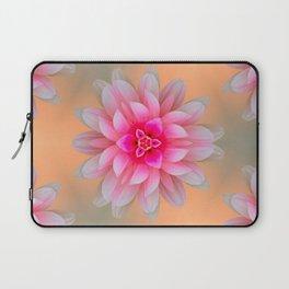 pink dahlia  background Laptop Sleeve