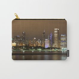 Beautiful river side city view in the night with colorful lights and tall buildings Carry-All Pouch