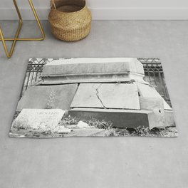 very old grave Rug