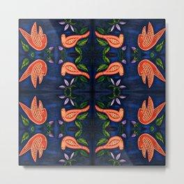 Palomas Noche Symmetrical Art3 Metal Print