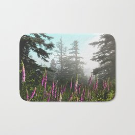 Misty Mountain Wildflowers Bath Mat