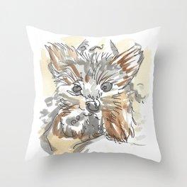Dog Portrait Series - Bentley Throw Pillow