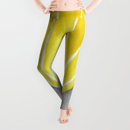 Yellow hot air balloon Leggings
