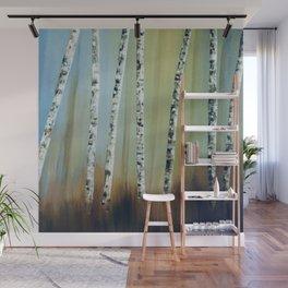 Summer Birch Trees Wall Mural