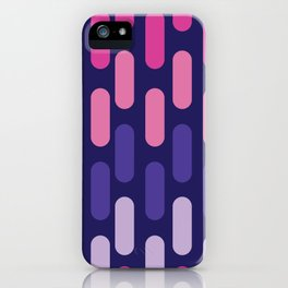 Colourful lines on navy background iPhone Case
