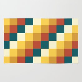 My Honey Pot - Pixel Pattern in yellow tint colors Rug