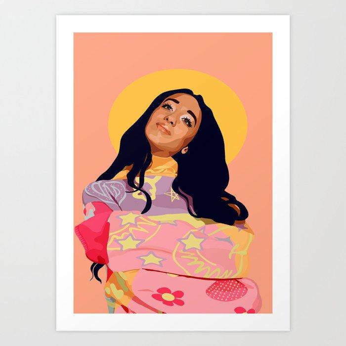 Saint Raveena Art Print