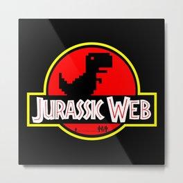 jurassic web Metal Print