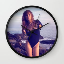 Brooke Eva - Comfortable with the Ocean Wall Clock