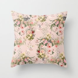 Pardon Me There's a Bunny in Your Tea Throw Pillow