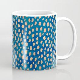 Handmade polka dot brush strokes (orange and blue) Coffee Mug