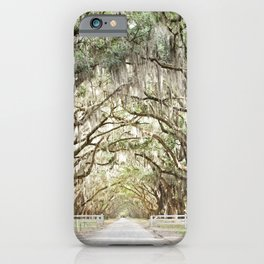 Savannah Serenity - Live Oaks Covered in Spanish Moss iPhone Case