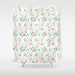space kittens Shower Curtain
