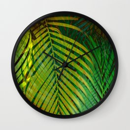TROPICAL GREENERY LEAVES II Wall Clock